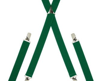 Plain Green Skinny Braces