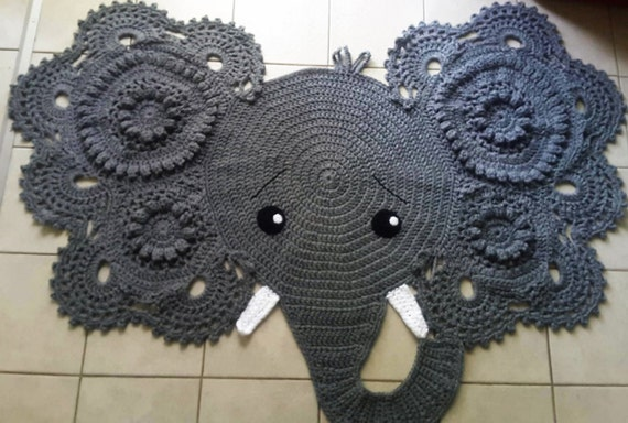 Crochet Elephant Rug : Elephant Rug. Hand Crochet. Made to Order by TheHappyHookerCrafts