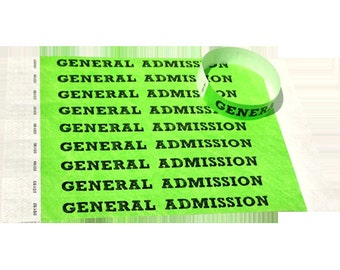 Customized Wristbands for Events made of Tyvek paper (100 Pack)