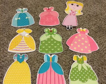 Cloth Doll Pillow with dresses