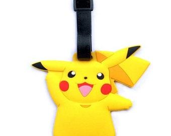 Pokemon Pikachu Luggage Id Bag Baggage Name Travel Tag