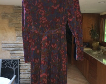 Laura Ashley corduroy floral dress
