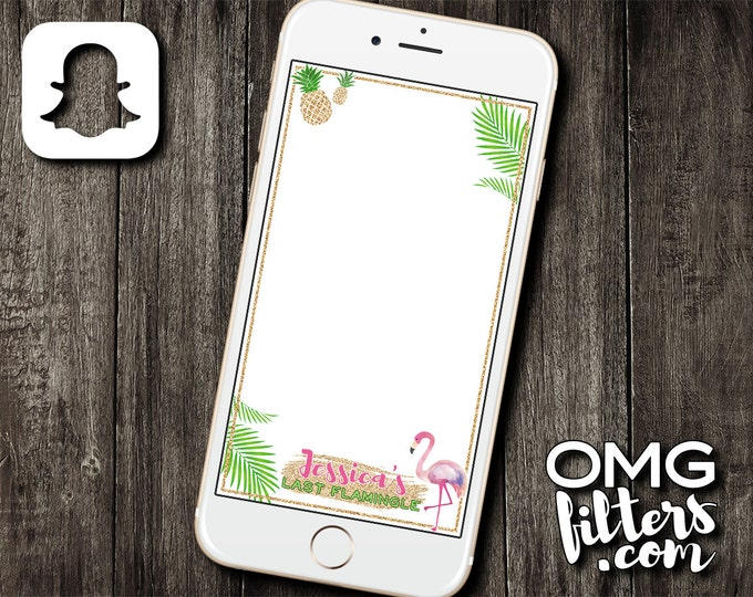 Flamingo Party - Custom Snapchat Filter - Bachelorette / Birthday / Any Event!