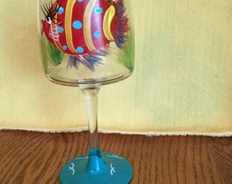 Wine Glass with Fish