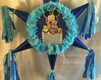 Baby Mickey First Birthday Pinata