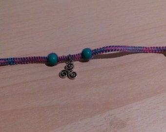 Celestial macrame bracelet