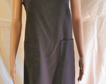 black maxi-dress