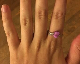 Purple Connected Loop Ring (7 1/4)