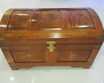 Solid Wood Vintage Upcycled Storage Trunk