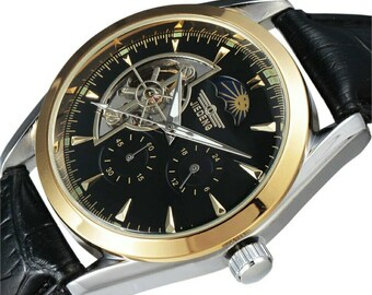Automatic Watch with Moonphase free shipping