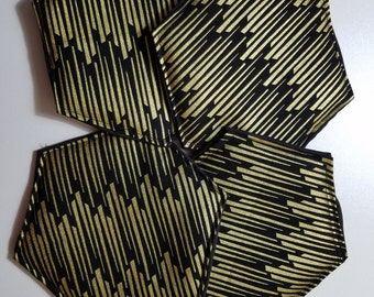 Gold Striped hotpad set