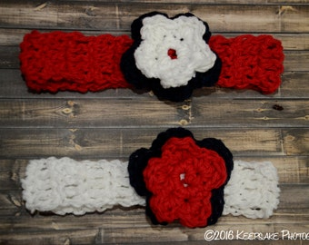 Red, White and Blue Headbands