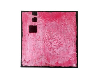 Baby pink - painting abstract on canvas Abstract Art modern - grey pink