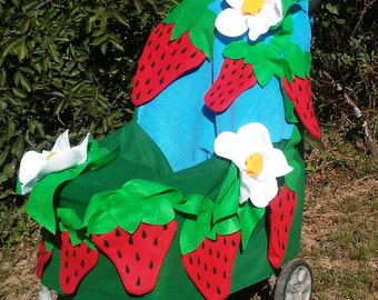 Strawberry Baby Costume for Stroller for Halloween*Ready to Ship*Stroller Cover Only