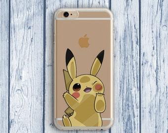 Pikachu Phone Case iPhone 6 Plus Case PokemonGO  iPhone SE iPhone 5 Pokemon Case iPhone 6s Case Samsung Galaxy S5 Case Pokemon Clear Case