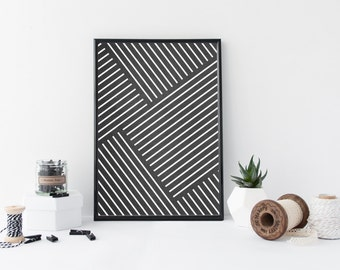 Printable art - Scandi style geometric poster