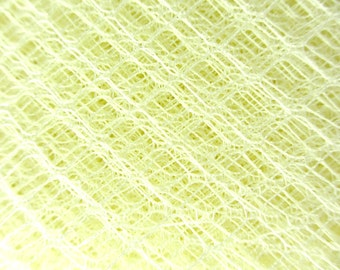 LEMON YELLOW Vintage Hat Netting for Birdcage Veils