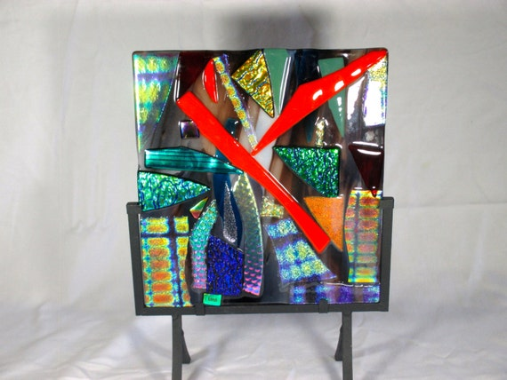 Dichroic Glass Sculpture, Fused Glass, Home Decor, Art Glass, Table Top  Decoration, Table Top Art Glass, Dichroic, Dichroic Glass,