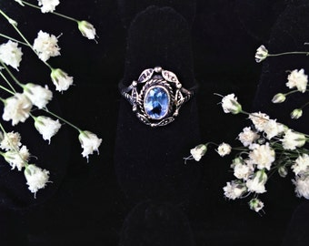 Blue Topaz Sterling Silver Ring Size 5 or 6