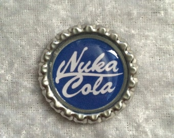 Nuka Cola Inspired Bottle Caps from Fallout 4 Blue Design