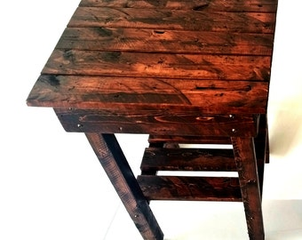 Night Stand/ End Table/Rustic End Table/Rustic Side Table/Bedside Table/Aged/Vintage End Table/Handmade/Custom New Materials/Farmhouse Table