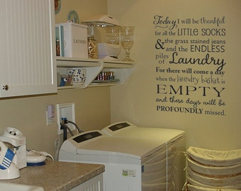 Laundry Room Vinyl Wall Quotes Laundry Room Quote  Etsy