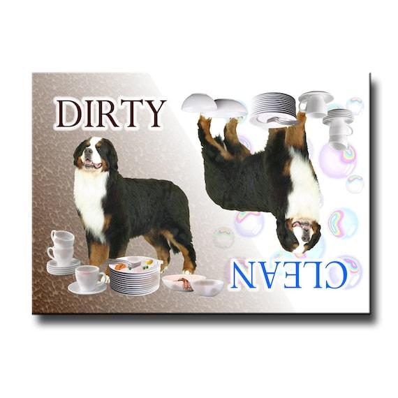 Bernese Mountain Dog Clean Dirty Dishwasher Magnet