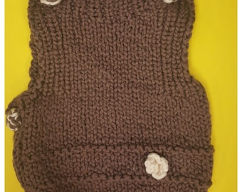 CUSTOM Knitted baby SWEATER/VEST (0-3months)