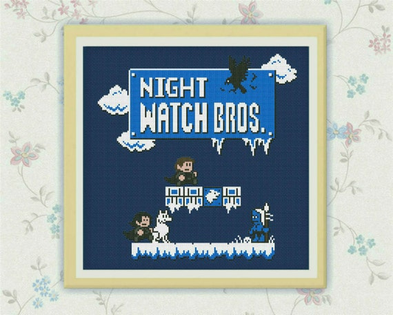 Super Mario Game Of Thrones Crossover Iron Throne: BOGO FREE! Night Watch Bros,Game Of Thrones, Super Mario