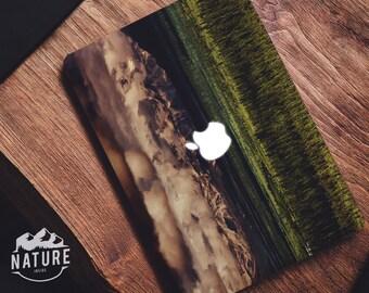 Macbook skin decal Inspiring landscape macbook pro mountain snow sunrise laptop decal photography macbook air sticker - NIM007