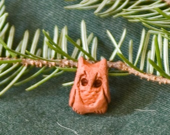 tiny trailer OWL / nature / forest / unique gift hand work