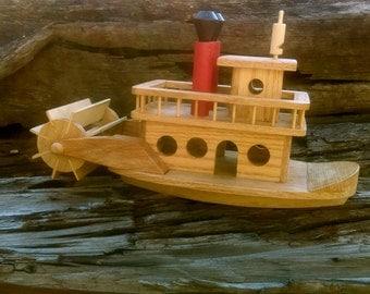 Handmade Wooden Boat - Vintage