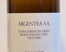 Ultra Strength Green Black Walnut Hull Tincture 16 Oz. by Argentea S.A.