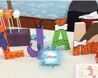 Flintstones Letters Flintstones Baby Shower Flintstones Birthday Fred Flintstones Bam Bam Pebbles Baby Letters Flintstones Cake Table