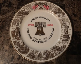 1776-1976 Bicentennial Collectors Plate Limited Edition By Viletta