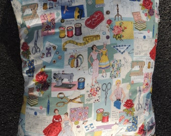 Cushion Cover - Retro Sewing