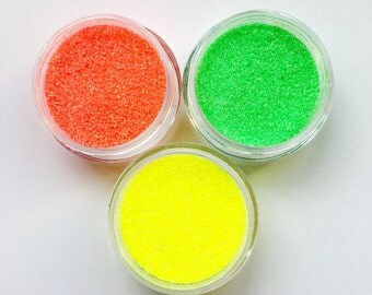 Nineties Neon Face Body Glitter Combo 3 Pack Iridescent Festival Sparkle Rave Pots