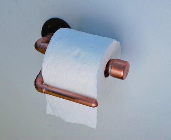 Copper Pipe Toilet Paper Holder Toilet Paper By
