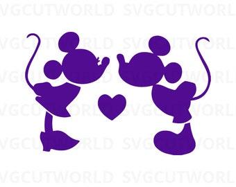 Mickey Minnie Svg, Disney Svg, Mickey Mouse Svg, Love Svg,  use with Cricut & Silhouette