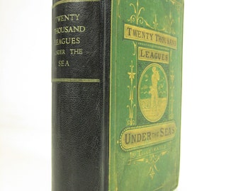 Twenty Thousand Leagues Under the Seas by Jules Verne (Second Edition) Decorative Binding 1873