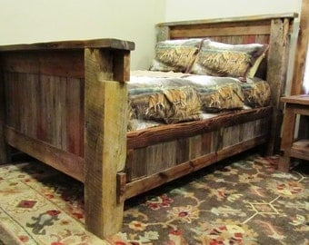Rustic Reclaimed Wood Bed