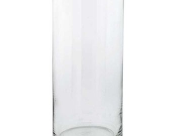 Glass Cylinder Hurricane Vase 7.5""