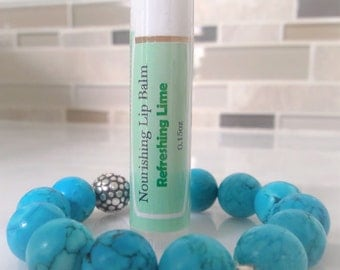 All-Natural Nourishing Beeswax Lip Balm,refreshing lime,cruelty free;NO sythatic additives,preservatives,parabens,glycol,sulfate,phthalate