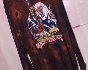 Iron Maiden Distressed & Bleached Long sleeve