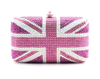 Flag Swarovski Crystal Clutch Bag