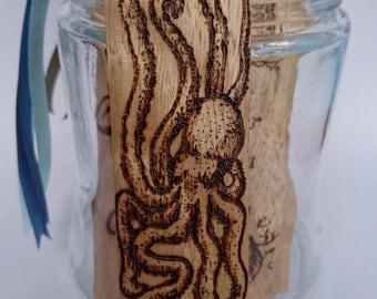 Wood Bookmark, Octopus