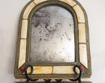 Old wall hanging mirror  w/ free ship