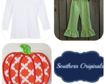 Girls pumpkin shirt / pant set