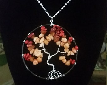 Fall old oak tree of life necklace /pendant  (B18)