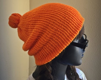 Knitted Orange Beanie